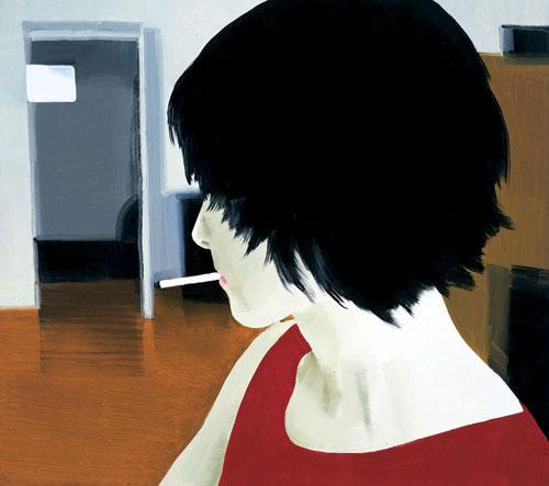 sasnal w girl smoking 2001.jpg